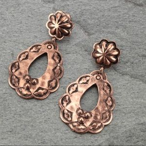 Jewelry - Teardrop Post Earrings Copper Color